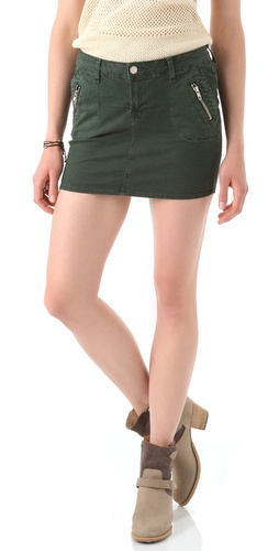 J Brand Ginger Zip Miniskirt