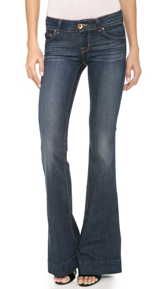J Brand Love Story Flare Jeans - Dark Vintage
