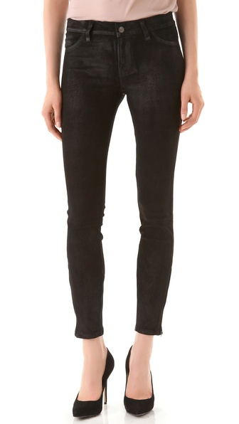 J Brand Super Skinny Suede Pants