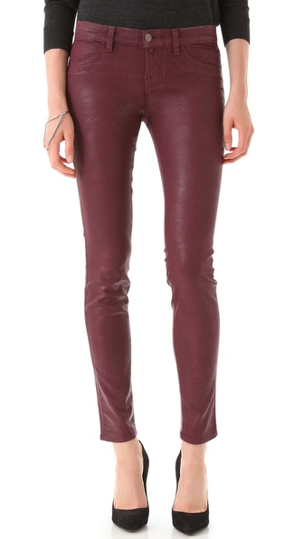 Coated Textured Super Skinny Jeans