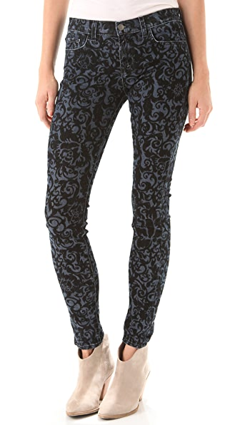 J Brand 811 Mid Rise Brocade Jeans