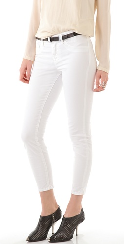 J Brand Mid Rise Skinny Capri Jeans