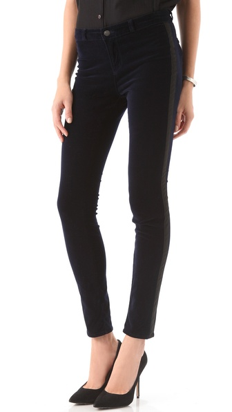 J Brand Katharine Velvet Trousers