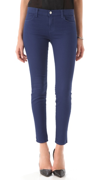 J Brand Danica Moto Zip Skinny Jeans