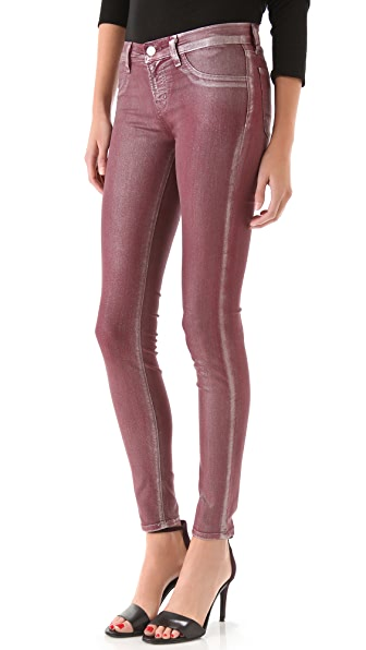 J Brand 901 Super Skinny Metallic Coated Jeans