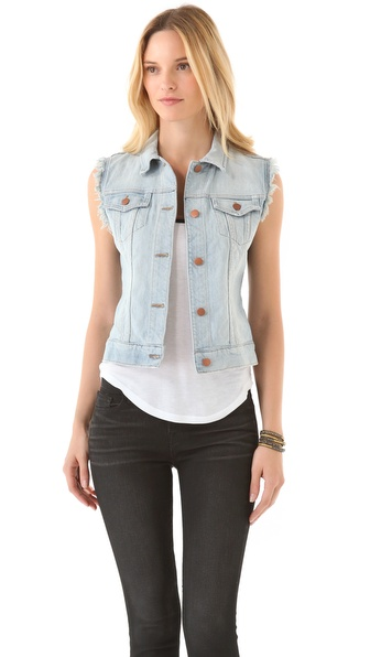 J Brand Deconstructed Denim Vest