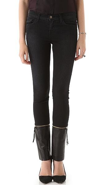 J Brand Viv Zip Off Skinny Jeans