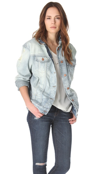 J Brand Broken In Boyfriend Denim Jacket