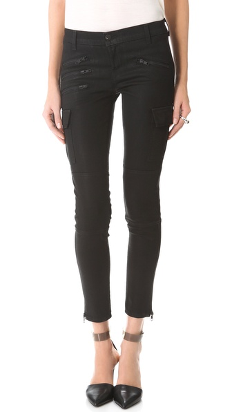 J Brand Brix Zip Coated Skinny Jeans