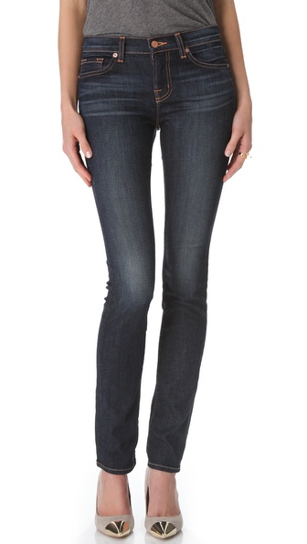 J Brand Mid Rise Rail Jeans