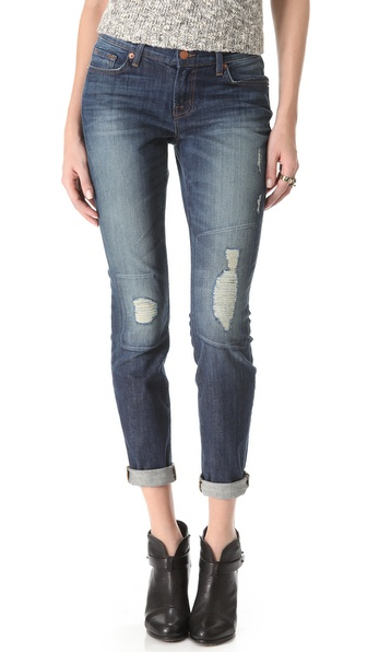 J Brand Midori Low Rise Boyfriend Jeans