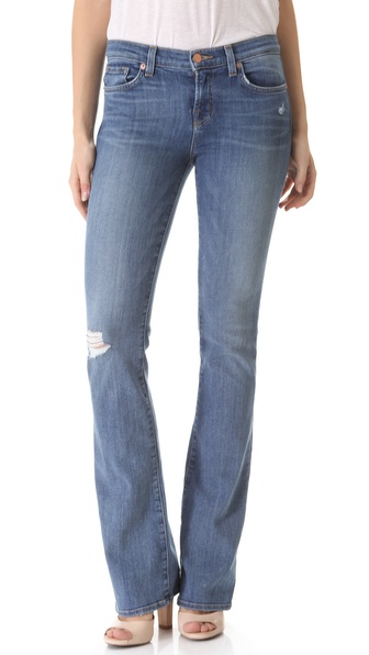 J Brand Janey Super Skinny Flare Jeans