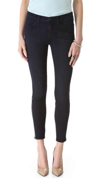 J Brand Jewel Ankle Zip Skinny Jeans