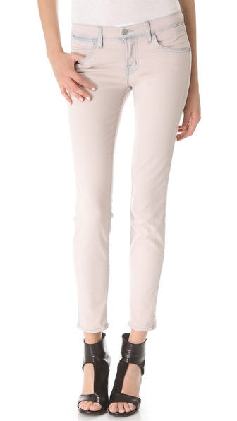 J Brand Allegra Mid Rise Skinny Jeans