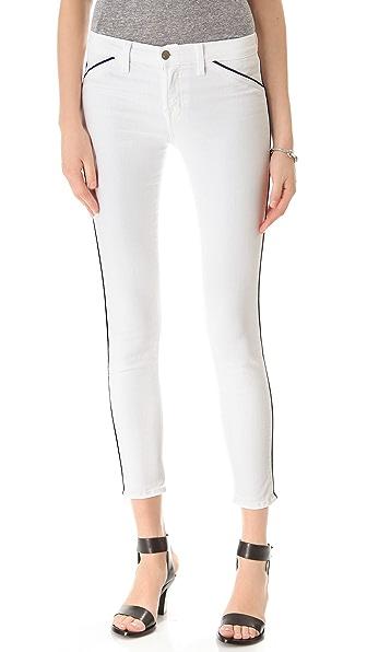 J Brand Piped Skinny Jeans