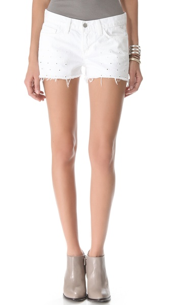 J Brand 1046 Dotted Eyelet Cutoff Shorts