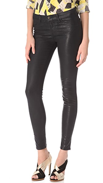 J Brand 915 Coated Textured Legging Jeans