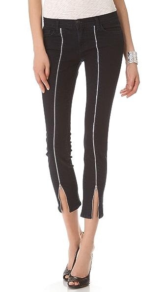 J Brand Jewel Front Zip Skinny Jeans