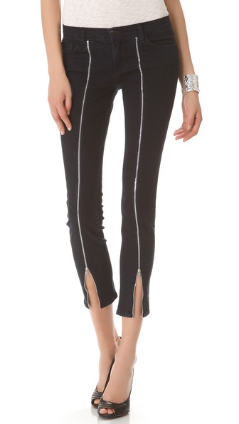 J Brand Jewel Front Zip Skinny Jeans