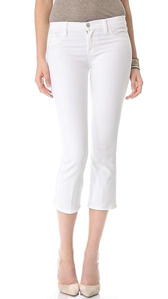 J Brand Sylvie Mid Rise Crop Jeans
