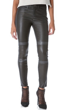 J Brand Irina Leather Moto Pants