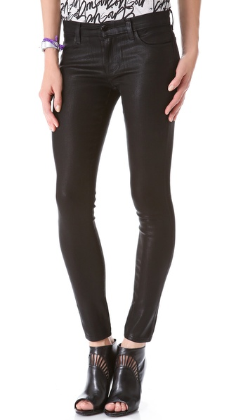 J Brand 620 Super Skinny Lacquered Jeans