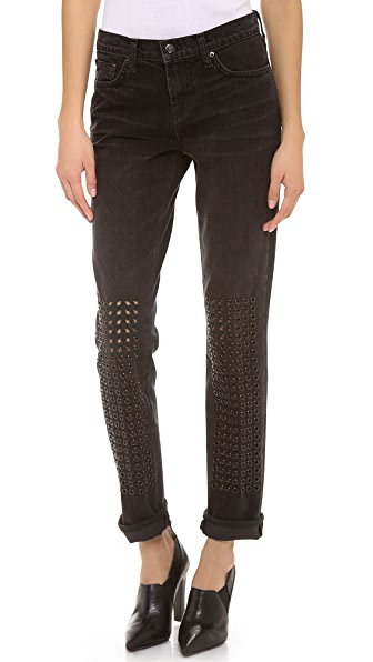 J Brand Embellished Ingrid Boy Fit Jeans