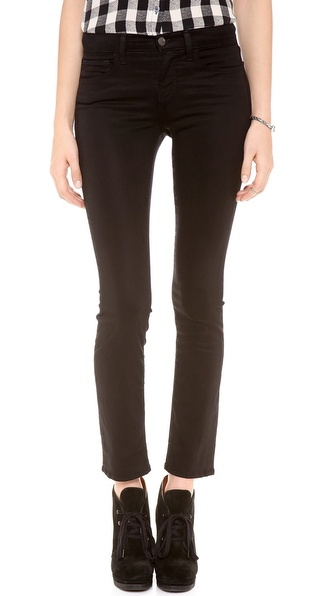 J Brand Petite Luxe Sateen Mid Rise Rail Jeans