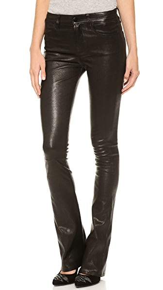 J Brand L8017 Leather Remy Bootcut Pants