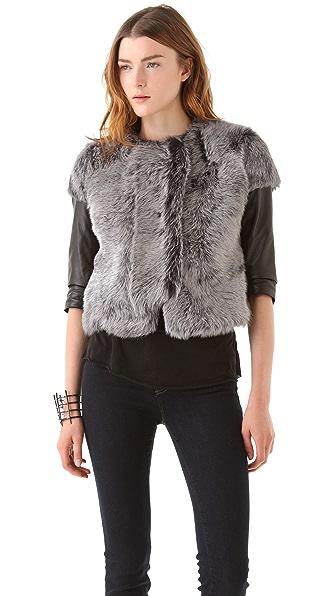 J Brand Ready-to-Wear Ailith Lamb Fur Jacket