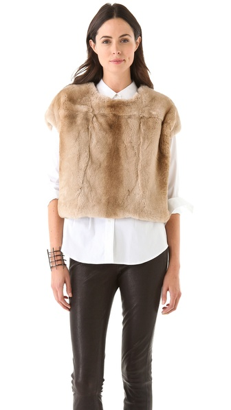 J Brand Ready-to-Wear Blanca Rabbit Sweatshirt