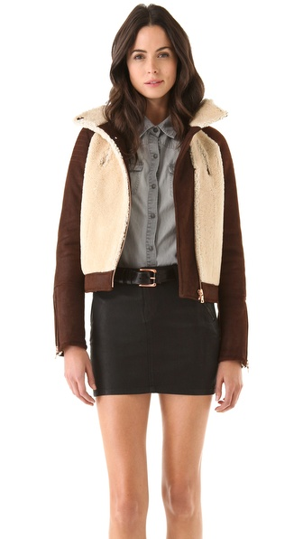J Brand Ready-to-Wear Belita Shearling Jacket