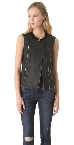 J Brand Ready-to-Wear Renee Leather Vest Jacket