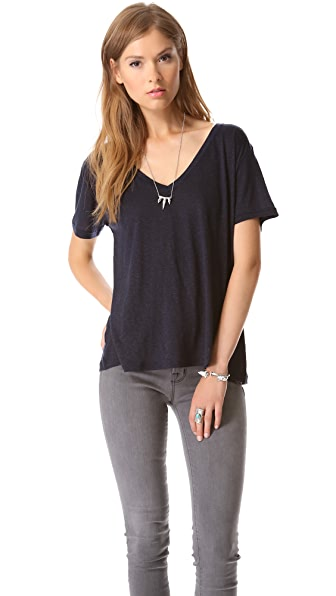 J Brand Ready-to-Wear Janis V Neck Tee