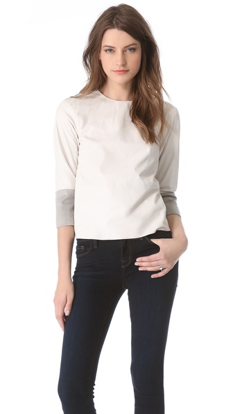 J Brand Ready-to-Wear Anya Leather Top