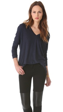 J Brand Ready-to-Wear Darby V Neck Tee