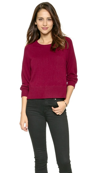 J Brand Ready-To-Wear Dauphine Cashmere Sweater - Sangria