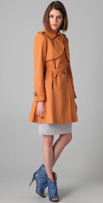 Just Cavalli Canvas Trench Coat