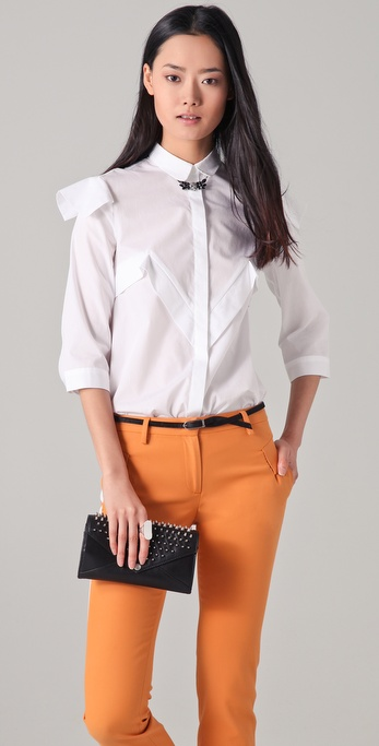 Just Cavalli Long Sleeve Poplin Blouse