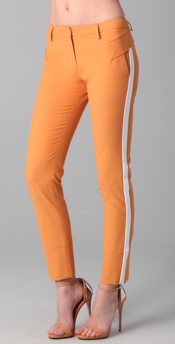 Just Cavalli Skinny Cropped Pants with Contrast Trim