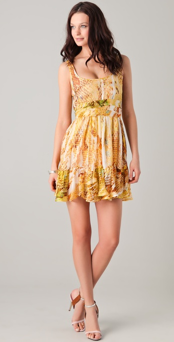 Just Cavalli Python Print Baby Doll Dress