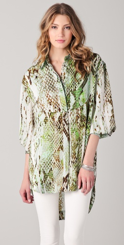 Just Cavalli Python Printed Oversized Tunic