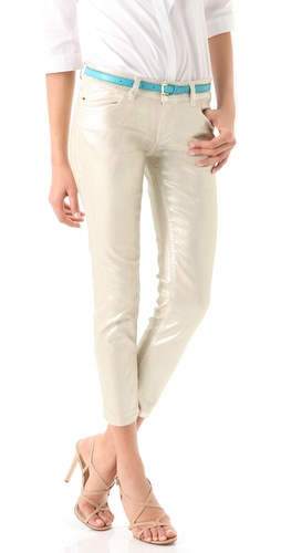 Just Cavalli Metallic Skinny Jeans