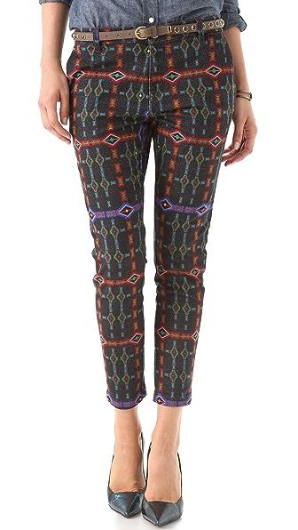 Just Cavalli Tartan Print Jeans