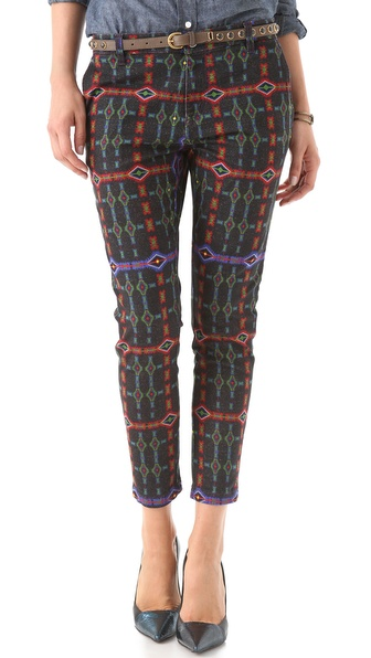 Just Cavalli Tartan Print Jeans