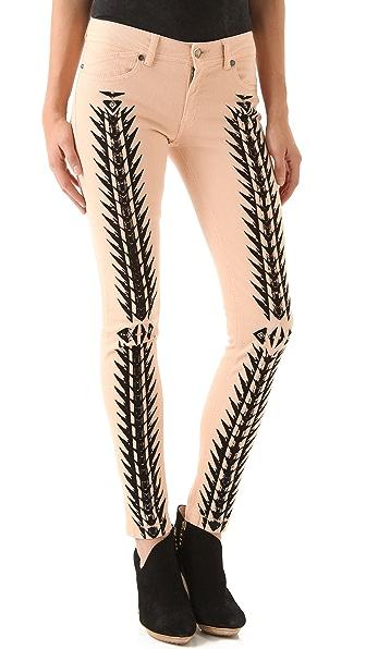 Just Cavalli Tribal Print Skinny Jeans