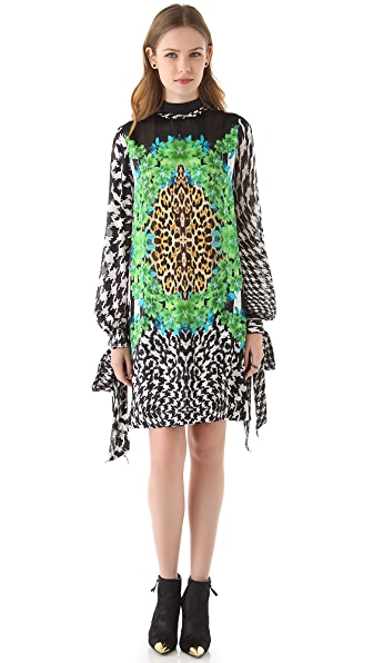 Just Cavalli Print Dress with Ties
