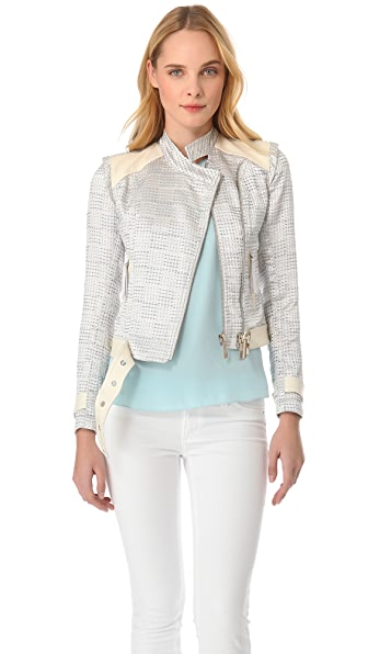 Just Cavalli Tweed Moto Jacket