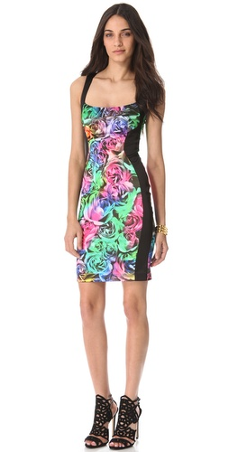 Just Cavalli Techno Rose Sleeveless Dress