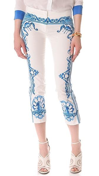 Just Cavalli Print Cropped Pants